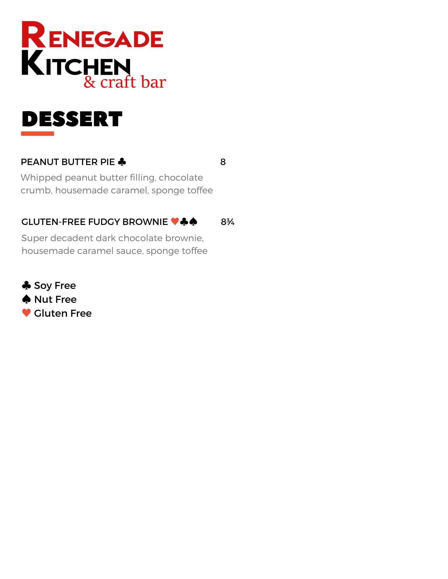 Winter 2021 Dessert Menu