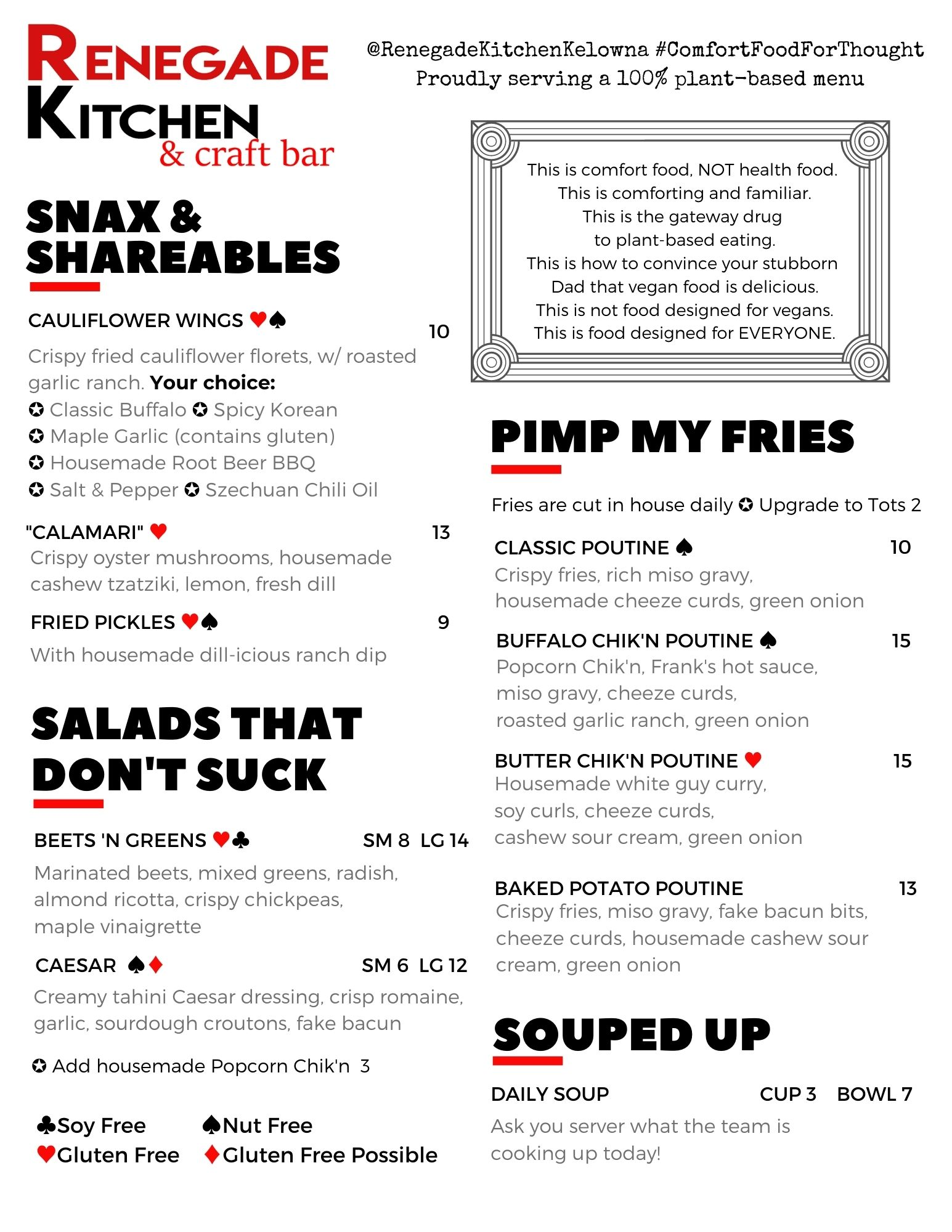 Winter Dinner Menu 2021 page 1
